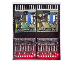 fonte de camera cftv mod i-099P 20A-16 S-segurança-16saidas-caixa-organizadora-com16 leds  steel