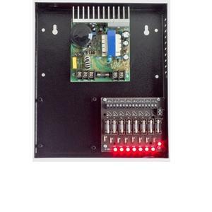 fonte-segurança-cftv-cameras-mod-i-099P-10A- Painel-de leds-organizador-8saidas-steelfontes-steel